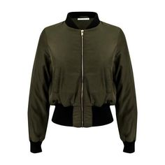 Bomber Jacket Army Green ($135) ❤ liked on Polyvore featuring outerwear, jackets, army green bomber jacket, olive bomber jacket, military green bomber jacket, olive green bomber jacket and olive green jacket