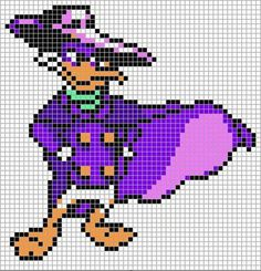 Darkwing Duck perler bead pattern