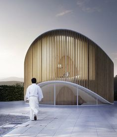 penda crafts curved timber garden house for wood artist in beijing - Modern Architecture Concept Drawings, Pavilion Architecture, Facade Architecture, Residential Architecture, Amazing Architecture, Classical Architecture, Sustainable Architecture, Contemporary Architecture, Landscape Architecture