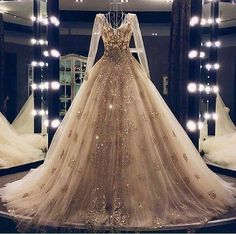 May 2020 - lace wedding dresses vintage 2020 long sleeve champagne bridal dresses beading sequins crystal bridal dresses wedding gowns Ball Dresses, Bridal Dresses, Nice Dresses, Evening Dresses, Prom Dresses, Elegant Dresses, Dresses Dresses, Summer Dresses, Formal Dresses