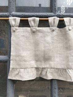 Linen Farmhouse Ruffled Curtains Cottage Ruffle Valance Simple Rustic French Country Window Treatment Natural Flax Linen Kitchen Curtain, As it pertains to master bedroom decorations ideas, certain things take centre stage.