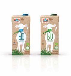 Emballage pour le lait. Delta Bio Organic Milk | Design : spoondesign, Grèce (2013)