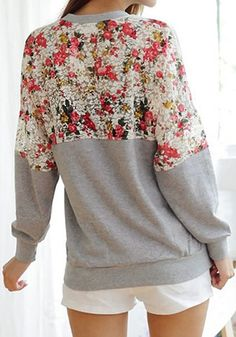 floral sweater!