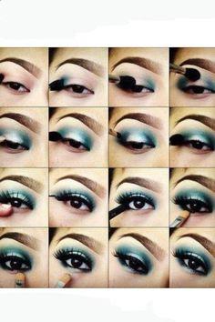 eye makeup (blue)