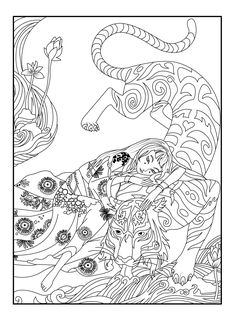 Here Is A Coloring Page With Tiger By Celine From The Gallery Japan Princess PagesAdult