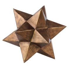 Urban Trends Metal 12 Point Stellated Icosahedron Sculpture - 39210