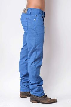 VOLCANO Blue (side) Chino pants