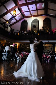 Bride And Groom First Dance At Wedding Reception The Bluestone In Columbus Ohio