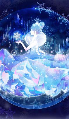 Theme of snow queen. Snow Queen, Ice Queen, Cinderella Wallpaper, Queen Anime, Queen Drawing, Matching Wallpaper, Queen Art, Anime Dress, Cool Art