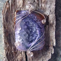 purple druzy agate | You can find out more about me, my craf… | Flickr