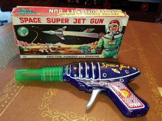 1960s Space Super jet gun friction Vintage Toys made in Japan in box tin toy lot | eBay