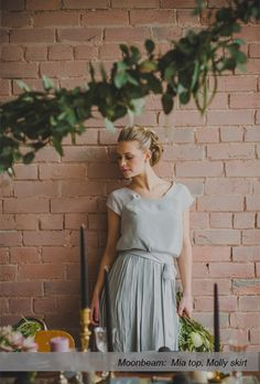 Caroline Campion natural silk bridesmaid dresses | Two piece tops + skirts for multiple flattering looks | Ships worldwide, available at http://www.carolinecampion.com/collection/bridesmaid-15/ | Susannah Blatchford Photography #CampionCouture