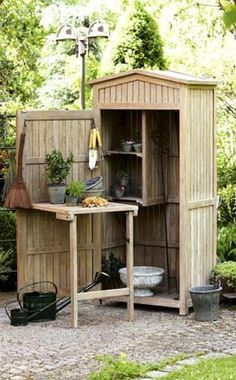 31 Wonderful Unique Small Storage Shed Ideas For Your Garden. If you are looking for Unique Small Storage Shed Ideas For Your Garden, You come to the right place. Below are the Unique Small Storage S. Allotment Shed, Garden Tool Shed, Garden Tool Storage, Shed Storage, Small Storage, Cottage Garden Sheds, Garden Gates, Potting Tables, Small Sheds