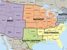 Can You Guess The Region Of The United States From Just One Word? Geography Lessons, Trivia Quiz, Us Map, One Word, Quizzes, United States, Teaching, Canning, Words