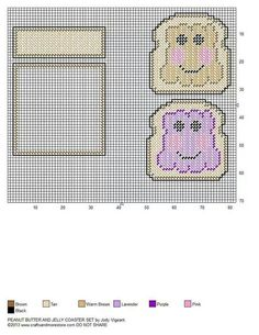 Milk and Cookies Coaster Set Plastic Canvas Coasters, Plastic Canvas Crafts, Plastic Canvas Patterns, Canvas Designs, Beading Patterns, Kandi Patterns, Mug Rugs, Tissue Boxes, Embroidery Art