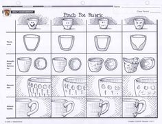 Good Worksheet For Teaching Clay Pinch Pots Projects