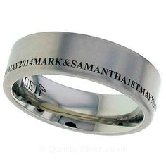Geti Flat Titanium Ring With Your Engraving