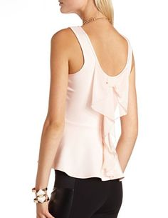 tank with a #bow #back <3 $18.99 Get a discount: http://www.studentrate.com/itp/get-itp-student-deals/Charlotte-Russe-10percent-Student-Discount--/0