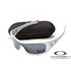 9b7286f9c1 Oakley antix sunglasses with matte silver frame black iridium lens