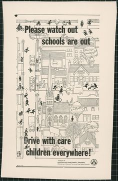 This page links to other pages about an Australian Road Safety Council campaign to improve road safety, Road Safety Poster, Safety Posters, Urban Renewal, National Archives, Media Images, Media Center, Child Safety, Safety Tips, Throwback Thursday