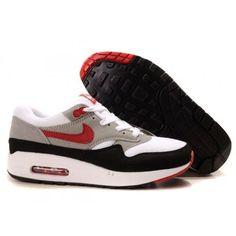 $61.85 air max men,Mens Cheap Nike Air Max 1 Trainers Grey/Black/Red http://airmaxcheap4sale.com/88-air-max-men-Mens-Cheap-Nike-Air-Max-1-Trainers-Grey-Black-Red.html