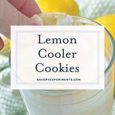 Lemon Cooler Cookies, also known as Sunshine Lemon Coolers, are a classic cookie recipe using fresh lemon and powdered sugar. #lemoncoolercookies #lemoncoolers #lemoncookies www.savoryexperiments.com