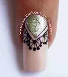 Beauty Nails, Hair Beauty, Silver Nails, Cool Nail Designs, Creative Makeup, Nails Design, Nail Inspo, Nail Art, Gemstones