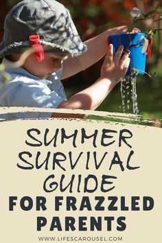 Summer Survival Guide for Frazzled Parents - Summer activities for kids for teens for toddlers and more! Survival summer and enjoy your time! Summer Activities For Kids, Summer Kids, Fun Activities, Single Parenting, Parenting Advice, Parenting Classes, Foster Parenting, Survival Guide, Survival Skills