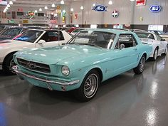ford mustang 1965 - THIS! THIS! THIS! It's the perfect color too!! One day I will own this car XD