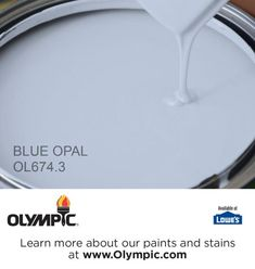 BLUE OPAL OL674.3 is a part of the blues collection by Olympic® Paint. Looks more like Periwinkle on the samples.