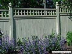Love the green grey fence