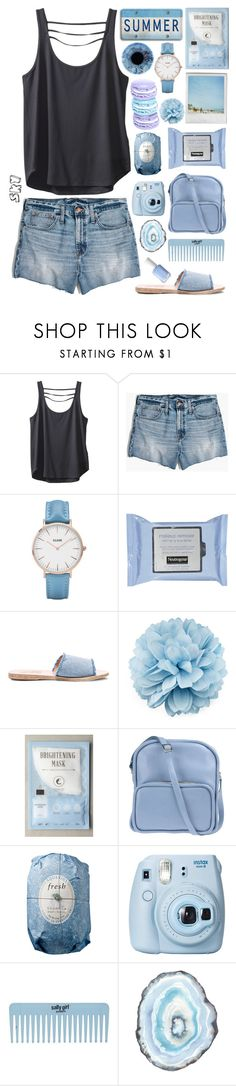 """s k y"" by skyl19 ❤ liked on Polyvore featuring Kavu, Madewell, CLUSE, Polaroid, Ancient Greek Sandals, Gucci, Kocostar, Jil Sander Navy, Fresh and Fujifilm"