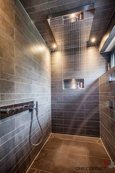Showering feels like a bath in a waterfall in this beautifull shower by ONE!CONTACT!