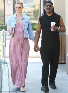 Baby bump: Eddie Murphy and his pregnant girlfriend Paige Butcher confirmed they are expecting a daughter as they headed out on a coffee run in Beverly Hills on Tuesday Black Man White Girl, Black And White Couples, White Girls, White Women, Mixed Couples, Couples In Love, Interracial Marriage, Interracial Family, White Wife Bbc