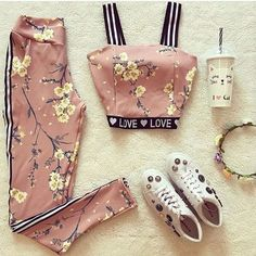 Trendy Ideas For Fitness Fashion Cute Fitnees fashion – Top healthy fitness Teen Fashion Outfits, Girly Outfits, Mode Outfits, Cute Fashion, Stylish Outfits, Stylish Dresses, Look Fashion, Fashion Clothes, Sport Outfit