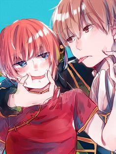 Sougo Okita x Kagura [OkiKagu], Gintama Girls Anime, Anime Couples Manga, Cute Anime Couples, Anime Art Girl, Manga Girl, Manga Couple, Anime Love Couple, Manga Anime, Couples Cosplay