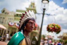 The Indian Chief on Main Street; Main Street U.S.A.  Disney Photography Blog: tips for great pictures at the parks.