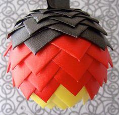 German Flag Ribbon Ornament by MadlensRibbonRiot on Etsy, $15.99
