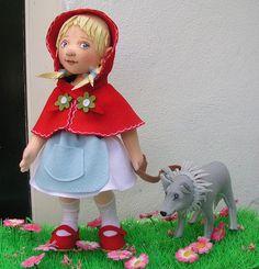 :: Crafty :: Doll :: little red ridinghood   Helen Priem