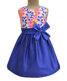 Royal Blue Mountain Ditsy A-Line Dress - Infant Toddler & Girls