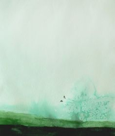 The art of mastering simplicity when using watercolour... Painting by Christine Lindstrom