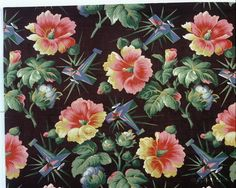 Vintage Russian Fabric 1920s