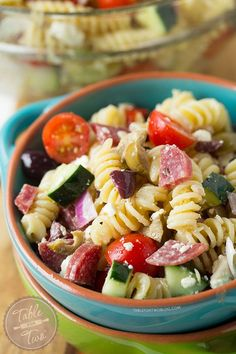 This chilled Mediterranean pasta salad comes together in no time! Perfect for warm days and parties!