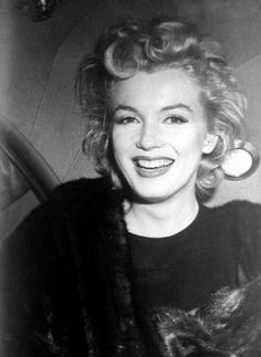 Marilyn Monroe photographed in 1956.