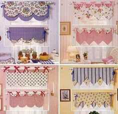 23 Charming Cottage Kitchen Design and Decorating Ideas that Will Bring Coziness to Your Home - The Trending House Home Curtains, Country Curtains, Curtains With Blinds, Window Curtains, Window Coverings, Window Treatments, Rideaux Design, Kitchen Valances, Curtain Designs