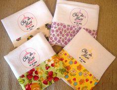 Lembrancinhas de chá de panela - panos de prato personalizados