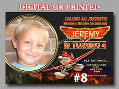 Disney Planes Invitations PRINTED Fire and by LetsPartyShoppe