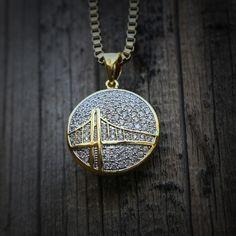 14k gold plated mini jesus piece necklace hip for Golden gate bridge jewelry