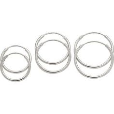 Buy Revere Sterling Silver Set of 3 Hoop Earrings at Argos. Gold Hoops, Silver Hoop Earrings, Women's Earrings, Earring Crafts, Sterling Silver Hoops, Ear Piercings, Earring Set, Bangles, Jewels
