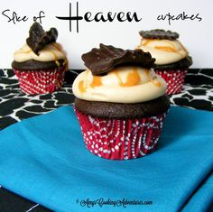 Amy's Cooking Adventures: Slice of Heaven Cupcakes {Chocolate Cake, Salted Caramel Frosting, & Chocolate Dipped Potato Chip!}  Plus a Babycakes Giveaway until 9.3.12!
